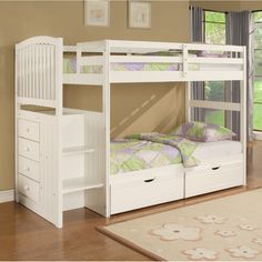 kids beds with storage for girls. Angelica Arch Spindle Chest End Step Bunk Bed By Powell Kids Beds With Storage For Girls