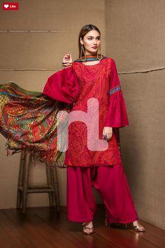Nishat Linen Winter Volume 1 2017 Linen Linen LinenFashion Linen Whatsapp: 00923452355358 Website: www. Pakistani Frocks, Pakistani Dresses Casual, Pakistani Bridal Wear, Pakistani Dress Design, Pakistani Fashion Casual, Stylish Dresses, Nice Dresses, Casual Dresses, Indian Designer Outfits