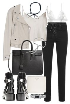 """""""Untitled #20099"""" by florencia95 ❤ liked on Polyvore featuring For Love & Lemons, rag & bone, Yves Saint Laurent, Beautiful People, Monica Vinader and Burberry"""