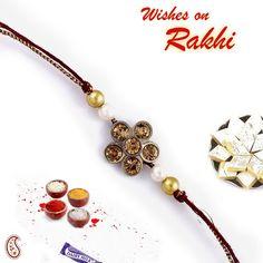 Floral design Pearl Beads Jewel #Rakhi #Gifts #rakhigifts #rakhiindia #onlinerakhi #sendrakhi #rakhisweet