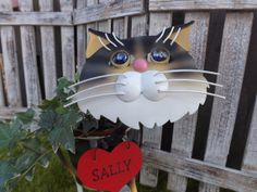 Personalized Stray Cat Garden Planter- Garden & Pet Lover Gift English Ivy Plant