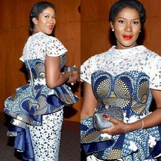 Latest Ankara Dress Styles - Loud In Naija African Lace Styles, African Lace Dresses, African Dresses For Women, African Attire, African Style, African Women, African Fashion Ankara, Latest African Fashion Dresses, African Print Fashion