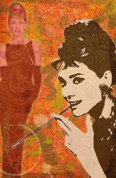 My Audry Hepburn pop art painting.