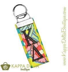Happy Key Fob Friday from KD Boutique to you!! The Kappa Delta Pattern Key Fob is the easiest and cutest way to spice up your letters!