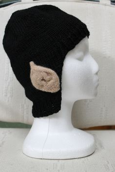 Spock hat with felted ears (free knitting pattern) knit pattern …shared by  Vivikene e108f16ca677