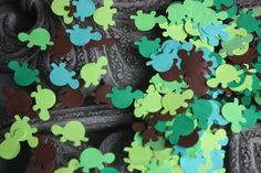 200 Turtle Confetti/Die Cut/Paper by NewCreationsCo on Etsy, $2.10