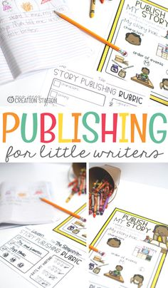 Teacher, your little writers have spent quite a while writing a story. It's now time to go to the publishing stage. I know they have worked hard to get to this point, and you, as a teacher, have worked hard for them too. So, let's get to publishing! Free publishing guide, printable and rubric for writer's workshop in first and second grade. - Mrs Jones' Creation Station #FreeResources #Writing #Gradeschool