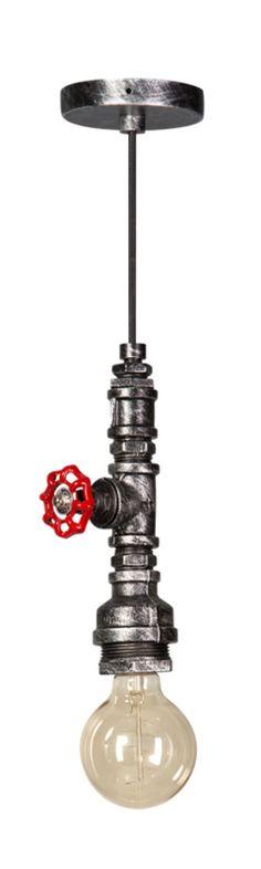 Fire Hose hanglamp zwart/zilver
