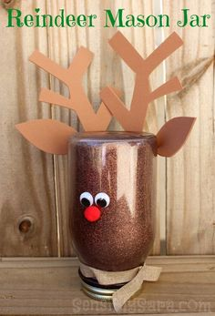 How to make a Christmas Fleece Rag Wreath and a Rudolph Mason Jar Craft! Two great - easy to make - crafts just in time for the holidays! 50 Diy Christmas Decorations, Holiday Crafts, Christmas Crafts, Christmas Music, Christmas Goodies, Reindeer Craft, Christmas Mason Jars, Theme Noel, Mason Jar Crafts