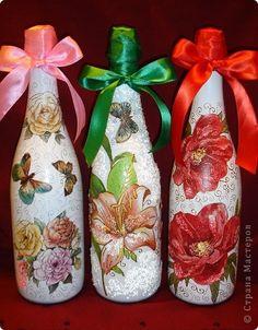 Декор предметов Декупаж: Праздничное Бутылки стеклянные. Фото 1