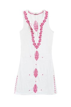 Tunic Tank in White-Passion