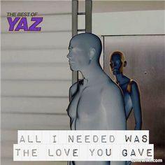 "YAZ! -- #LyricArt for ""Only You"" by Yaz"
