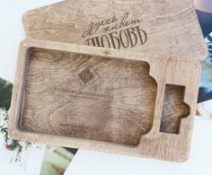 Wood box for photos and usb, wood case for photos