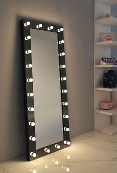 - Mirror Designs - Dressing Hollywood Mirror Black 85 x 40 in Dressing Hollywood Mirror Black 85 x 40 in. Room Ideas Bedroom, Bedroom Decor, Dressing Room Mirror, Pinterest Room Decor, Dressing Table Design, Dressing Table Lights, Makeup Room Decor, Glam Room, Stylish Bedroom