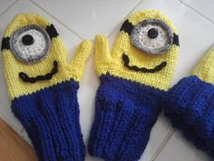 Pattern-2 Needle Minion Inspired Knitted by BeckysCrochetShop32