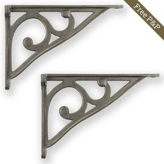 Cast Iron Shelf Bracket in our fine design. Sold in matching pairs with all the necessary fixings & finished in a clear matt lacquer to preserve fine detail. Shelving Brackets, Cast Iron Shelf Brackets, Shelves, Room Color Schemes, Room Colors, Toilet Cistern, Wood Screws, Traditional Design, Preserve