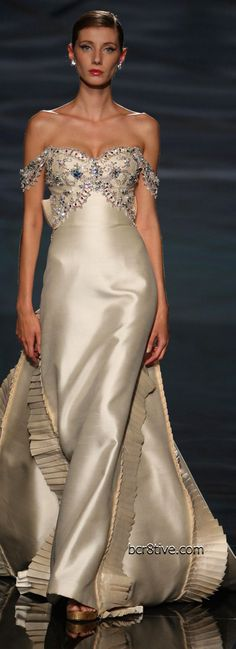 A partial collection of my favorite Haute Couture Evening Gowns by Fausto Sarli from years prior to Beautiful Gowns, Beautiful Outfits, Couture Fashion, Runway Fashion, Paris Fashion, Champagne Evening Dress, Mode Costume, Mode Glamour, Gowns Of Elegance