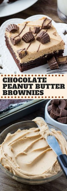 If the idea of fudgy brownies with peanut butter frosting, peanut butter cups & chocolate drizzle sounds right up your alley - then you're going to love these chocolate peanut butter brownies. Seriously fudgy & the best combo of chocolate and peanut butter!
