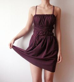 Summer Wine  Convertible plum Mini dress with by WhimsyTime, $64.00