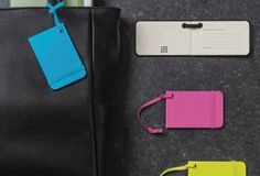 """Moleskine luggage tags are a stylish way to personalise luggage and show Moleskine identity. The tags have space for a name, address and """"In case of loss."""". Get a quote now for customize luggage tag. Contact us @ sales@giftandpaper.com"""