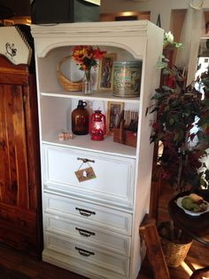 This secretary was given a whole new look with homemade chalk paint. So many uses!!!