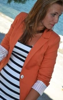 omg I NEED this- its the perfect me outfit, coral and navy stripes. NEED!!!