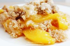 Healthy Dessert Clean Eating Peach Cobbler | Diet Meals and Easy Healthy Recipes that Help Me Lose Weight