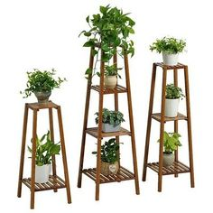 Bamboo wooden shelf plant stand ladder book shelf storage indoor outdoor Complete the ensemble with Garden Plant Stand, Garden Table, Indoor Outdoor, Indoor Plants, Indoor Garden, Outdoor Living, Indoor Flowers, Bamboo Furniture, Diy Pallet Furniture
