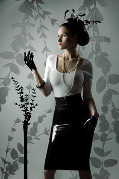 @SisterSinister - white blouse and latex skirt. Photo by Nikdesign