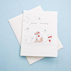 Happy Holidays - Watercolor Greeting Card