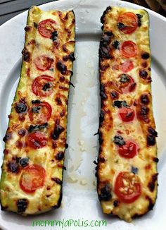 Grilled Zucchini Boats- can likely make this healthy