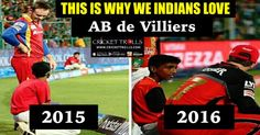 #VivoIPL #IPL2016 #IPL9 #ABdeVilliers #RCB Royal Challengers Bangalore Cricket South Africa​  Now, you may now why we INDIANS love AB de Villiers​  http://www.crickettrolls.com/2016/04/13/india-is-my-second-home-ab-de-villiers/