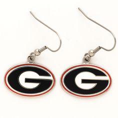 University of Georgia Dangle Logo Earrings at End Zone Apparel