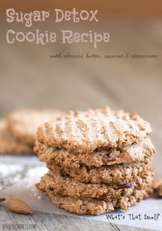 Sugar Detox Cookie Recipe - low carb - I would use Just Like Sugar Brown Sugar Replacement or SPLENDA® Brown Sugar Blend to dip the fork into before pressing the tops of the cookies rather than using extra coconut flour. It seems this would derail the fork sticking and add more flavor.