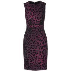Class Roberto Cavalli Knee-length Dress ($225) ❤ liked on Polyvore featuring dresses, purple, tube dress, purple knee length dress, sleeveless dress, no sleeve dress and purple sleeveless dress