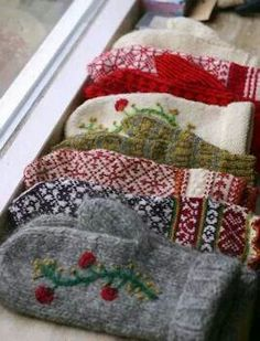 Did you get the sweaters for Christmas you don't like make mittens out of them