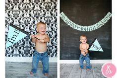 Yay I'm 1 Flag- great for photo shoots or birthday parties. $35.00, via Etsy from joyful joyful