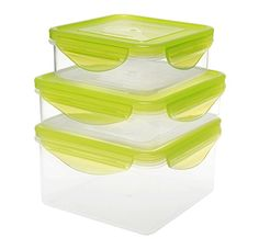 Kinetic Fresh Series 6Piece Square Food Storage Set includes 3 Containers and 3 Lids 49109 *** This is an Amazon Affiliate link. Check out this great product.