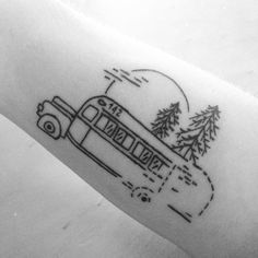 """Into the Wild tattoo """"Happiness only true when shared""""."""