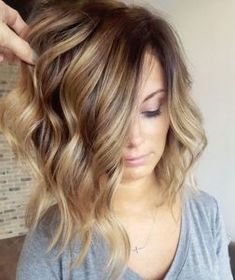 41 Lob Haircut Ideas For Women - mikaatbhc《Bronze color melt + LOB》 -What is a lob? Step by step easy tutorials on how to cut your hair for a lob haircut and amazing ideas for layered, and straight lobs. Ideas for lobs with bangs, thick hair, wavy and thin hair. For long hair and medium hair. For round faces and sharp features - thegoddess.com/lob-haircut-ideas-women