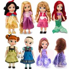 Princess Animator Sharon Doll Putri Sofia Merida Rapunzel Ariel Cinderella Yang Salju Putih Belle Aurora Putri boneka untuk Gadis