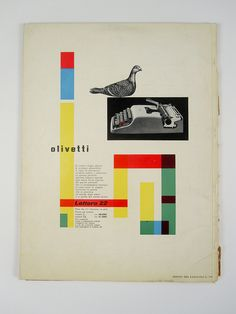 Olivetti Lettera 22 ad,1954 : Typewriter + Pigeon = Perfection!