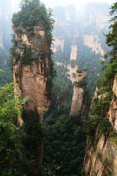 CHINA - Wulingyuan pinnacle. Photo by Ray Millar.