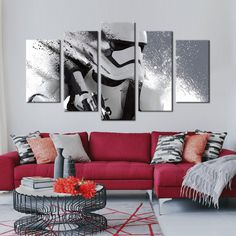 Two Options: No Frame Means Print Only Frame comes stretched, framed, and ready to hang! Difference Between Framed and Unframed: Red Couch Living Room, Red Living Room Decor, Burgundy Living Room, Red Home Decor, Red Sofa, Red Rooms, Imperial Stormtrooper, Wall Art Decor, Frame
