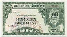100 Schilling 1944 (Militärschilling) Österreich Nachkriegszeit in Österreic Spirograph, Prefixes, The 100, The Past, History, Retro, Banknote, Austria, Coins