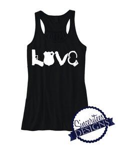 LOVE Police Officer Tank Top Ladies/womens by SinceriteesDesigns
