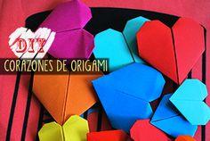 corazones origami arte del papel