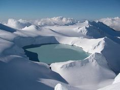Turoa, New Zealand Crater Lake, Snow And Ice, Our World, Beautiful World, Winter Wonderland, New Zealand, Skiing, Earth, Mountains