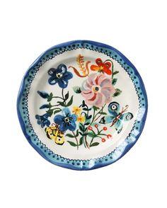 pratos com flores