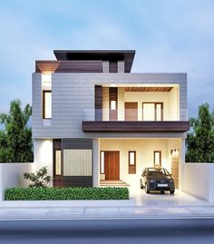 for-awesome-modern-house-front-elevation-designs-design-for-home-images-interior-chandrashekarus-by-ashwin-architects-chandrashekarus-modern-house-front-elevation-designs. Bungalow House Design, House Front Design, Modern House Design, Bungalow Exterior, Minimalist House Design, Exterior Siding, Building Exterior, Building Facade, Front Elevation Designs